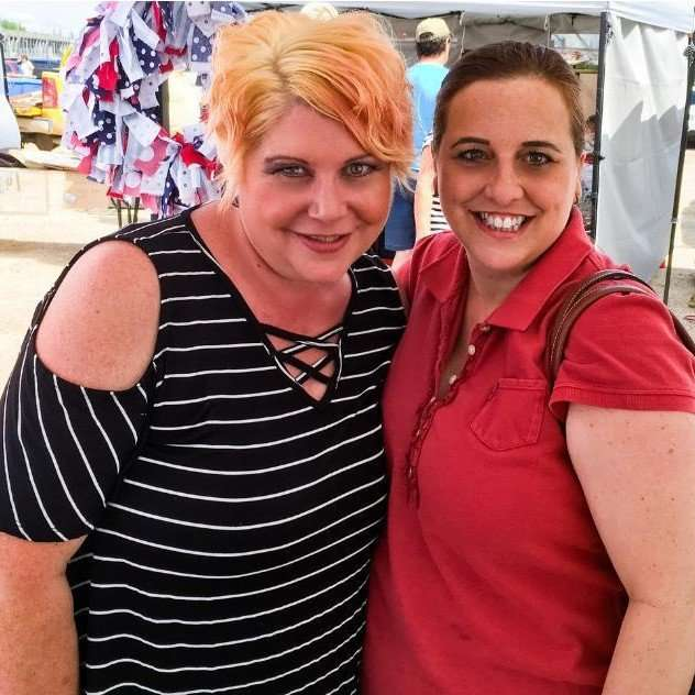 Jen Olenick and friend at the Lockport Craft Fair